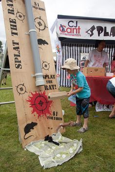We had all the traditional fete games like Splat the Rat Halloween Carnival Games, School Carnival Games, Diy Carnival Games, Fall Carnival, Halloween Games For Kids, Carnival Birthday Parties, Splat The Rat, Fall Festival Games, Fall Festivals