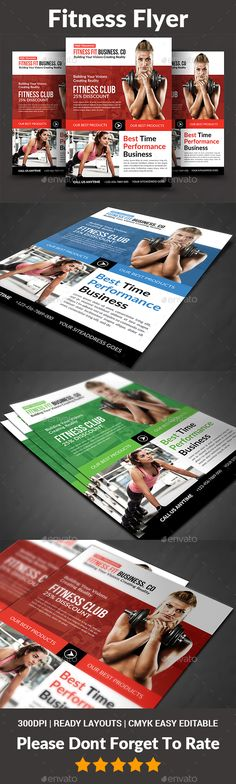 Fitness Flyer Pinterest Flyer template, Template and Marketing
