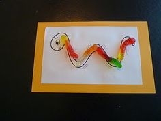 W letter activities centered around worms