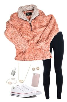 True grit, converse, kendra scott, kate spade and essie lazy day outfits, o Cute Lazy Outfits, Casual School Outfits, Teenage Girl Outfits, Teen Fashion Outfits, Sporty Outfits, Teenager Outfits, Tween Fashion, Mode Outfits, Simple Outfits