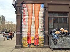 New York City Feelings - Street Art by @Gumshoe_ at the Lower East Side by...