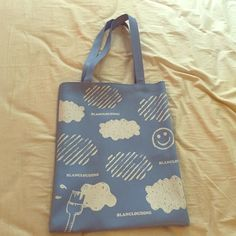 Blue Tote Bag with Surprise Bonus Gifts Roomy, Faux Leather Tote. Bought in Korea. Will include some mystery items as well:) Bags Totes