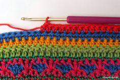 Crochet Along Babydecke Teil 12 Reihe 3 - schoenstricken.de