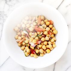 """Marisa Vara Arredondo on Instagram: """"Fiber-rich chickpea salad for lunch! The manganese in chickpeas fights wrinkle-causing free radicals, while the folate and vitamin B repair damage from the sun and harmful toxins. #thephacelife #ph #phbalance #clearskin #healthyskin #beauty #health #wellness #mindfulness #lifestyle #detox #natural #chickpeas #selflove #diet #lunch #antiaging #skincare"""""""