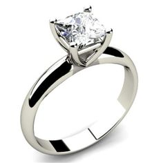 Beautiful-Diamond-1-30-Ct-14K-SOLID-White-gold-Solitaire-Engagement-Wedding-Ring