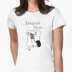 Dear Mom T-shirt - from the matching Deer Family Set Deer Family, Family Set, Dear Mom, Classic T Shirts, T Shirts For Women, Hoodies, My Love, Mens Tops, Stuff To Buy