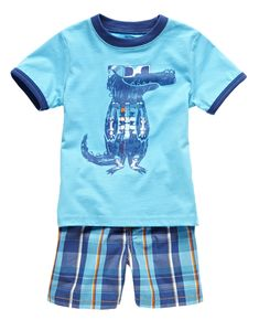 Okie Dokie boys' tee and shorts Toddler Outfits, Baby Boy Outfits, Kids Outfits, Kids Fashion Boy, Little Fashion, 2 Princes, Toddler Crocs, Stylish Boys, Cute Baby Clothes