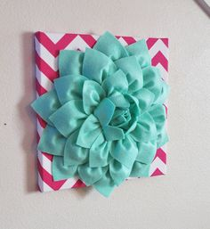 Hey, I found this really awesome Etsy listing at https://www.etsy.com/listing/165497060/flower-wall-decor-large-mint-green