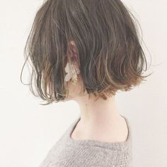 Page 48 of 63 - Another! Permed Hairstyles, Pretty Hairstyles, Cabello Hair, Shot Hair Styles, Hair Arrange, Japanese Hairstyle, Girl Short Hair, Hair Day, Hair Goals