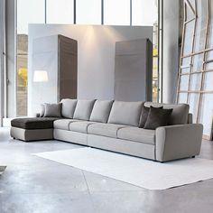 Gentil Canapé Design Italien De Couleur Gris Joli Salon Avec Meubles Modernes Italiens  Pas Cher