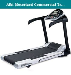 Aibi Motorized Commercial Treadmill. Performance motor: 3hp ac speed: 0.8 - 20 km/h elevation: 0 - 15% lift motor: 450 kg thrust feature: 90% pre-assembly supper silent electronics workout feedback: time, distance, speed, calories, lap, scan, pulse, track, incline workout feedback display: 4 led, 12 character alphanumeric led quick keys on console: 4 speed quick keys, sprint (10km/h), run (8km/h), jog (6km/h), walk (4km/h), 4 incline quick keys. handlebar buttons (speed / incline): yes.