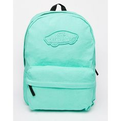 Vans Realm Backpack in Mint Green (135 RON) ❤ liked on Polyvore featuring bags, backpacks, sac, accessories, green, knapsack bag, vans bag, rucksack bag, mint green bag and vans backpack