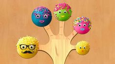 Cake Pop Finger Family with Surprise eggs - Nursery Rhymes & Songs For Kids Baby Finger Song, Finger Family Lyrics, Finger Rhymes, Mommy Finger, Family Songs, Sister Finger, Cake Pops Image, Nursery Rhymes Songs, Games For Toddlers