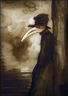 Una volta a Venezia by on DeviantArt Plague Mask, Plague Doctor Mask, Plague Dr, Plauge Doctor, Good Doctor, Dark Gothic Art, Dark Art, Illuminati, Mask Painting