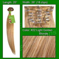#22 Medium Golden Blonde - 20 inch