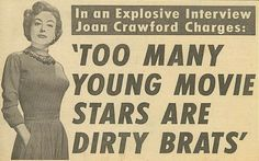 JOAN CRAWFORD - in an ad that stands the test of time