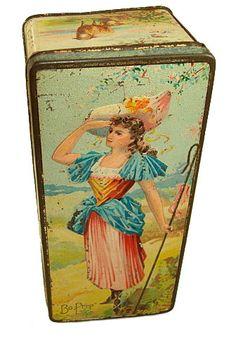 Very Rare Little Bo Peep Biscuit Tin circa 1895
