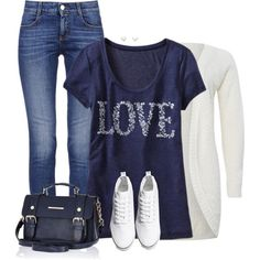 Navy & Denim, created by cnh92 on Polyvore