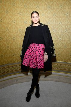 Olivia Palermo attends the Balmain show as part of the Paris Fashion Week Womenswear Fall/Winter 2018/2019 on March 2 2018 in Paris France