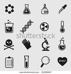 stock-vector-simple-flat-vector-science-and-chemistry-icons-312099947.jpg 450×470 pixels