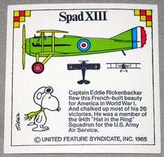 Snoopy and Spad XIII Airplane