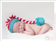 Items similar to Cat in the Hat Elf for the Family, Custom made for baby, toddler or child on Etsy Knitting For Kids, Loom Knitting, Knitting Ideas, Hand Knitting, Knitting Patterns, Crochet Patterns, Crochet Preemie Hats, Knit Crochet, Knit Hats