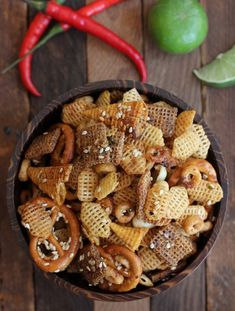 Sweet and Spicy Sriracha Snack Mix(From Scratch <3)