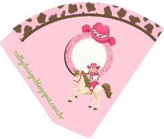 """Kit de Aniversário """"Vaqueira ou Cow girl"""" para Imprimir - CALLY'S DESIGN-Kits Personalizados Gratuitos"""