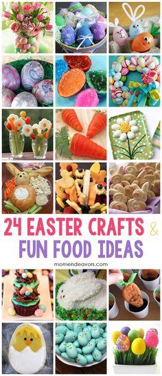 Adorable Easter crafts & fun food ideas via momendeavors.com #Easter