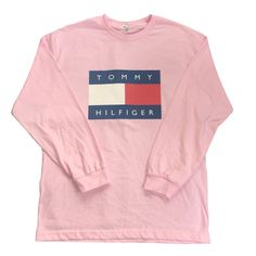 Pink Tommy Hilfiger Long Sleeve Tee ~ [ $15.99 ]