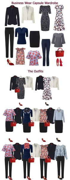 An example of a client's business wear capsule wardrobe