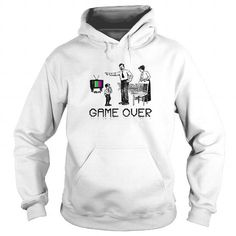 Awesome Tee Game Over Gamer TShirt for Men and Women Shirts & Tees