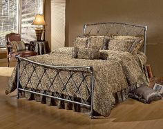 Hillsdale 1298BKR Silverton King Bed Set with Rails in Pewter Hillsdale