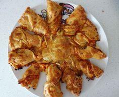 Pizza con forma de estrella - Las Recetas de Guada Recipes, Star Shape, Phyllo Dough, Egg Wash, Shapes
