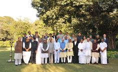Narendra Modi in a group photograph after the consultation meeting with the CMs on replacing Planning Commission