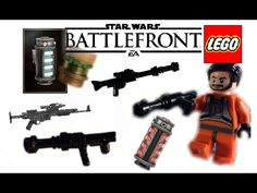 Awesome Lego Star Wars Battlefront Blaster and Gear Designs Awesome Lego, Cool Lego, Starwars Battlefront, Lego Clones, Lego Videos, Clone Wars, Lego Star Wars, Legos, Cool Kids