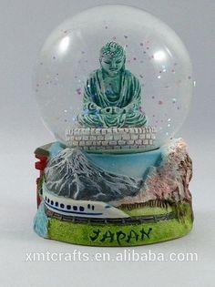 Big Buddha statue in Japan snow globe