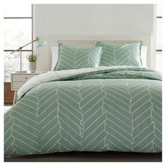 Ceres Comforter And Sham Set Twin Light Green - City Scene® : Target