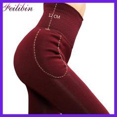 Feilibin 2017 New Women Leggings Winter Warm Pants High Waist Thicken High Elastic Women's Warm Velvet Leggings