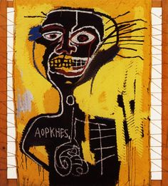 Available for sale from Soho Contemporary Art, Jean-Michel Basquiat, Cabeza Screenprint, 54 × 39 in Jean Michel Basquiat, Bad Painting, Andy Warhol, Graffiti, Art Brut, Outsider Art, Keith Haring, American Artists, Canvas Art Prints