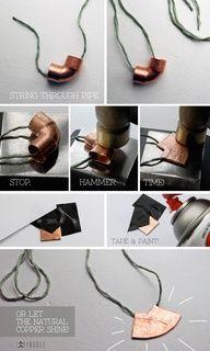 DIY copper fitting jewelry - interesting idea  #handmade #jewelry