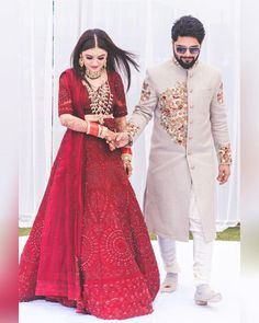 Ravi Kapoor/ Kushal Kapoor (@raviphotographics) | Couple goals | Couple reception outfit ideas | Red lehenga with embroidery | Bridal jewelry | Satlada | Indian wedding | Indian couples | Bride and groom | #wittyvows #wedding2020 #bride #indianbride #indiangroom #inspiration #trending #indianweddings #romantic #bridaljewellery #indianweddingphotography #weddingphotgrapher #bridallooks Bridal Outfits, Bridal Dresses, Indian Dresses, Indian Outfits, Indian Reception Outfit, Couple Wedding Dress, Red Lehenga, Saree, Indian Wedding Photography