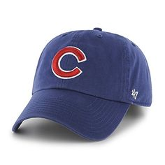 Chicago Cubs Adjustable  Clean up  Hat by  47 Brand Chicago Cubs Baseball dd3b016e63b1