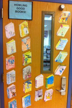 """""""boeken-deur"""" ( lievelingsboeken/kinderboekenweek)"""