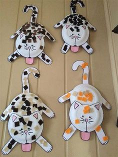 Cat crafts for toddlers cat craft for kids cat preschool crafts . Kids Crafts, Paper Plate Crafts For Kids, Daycare Crafts, Cat Crafts, Crafts For Kids To Make, Animal Crafts, Toddler Crafts, Projects For Kids, Art For Kids