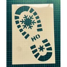 Santa Claus shoe print stencil / Santa footprint stencil / bootprint stencil / Christmas stencil