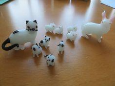 Miniature Glass Menagerie Kitties and Bunnies