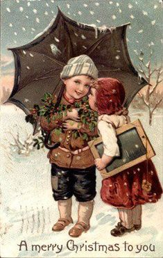 Christmas Children Vintage Cards for Christmas and Holidays