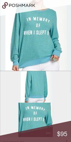 Wildfox teal green jumper Medium NWT Wildfox teal green jumper Medium NWT Wildfox Tops Sweatshirts & Hoodies