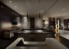 Pool Table Hangout Living Space